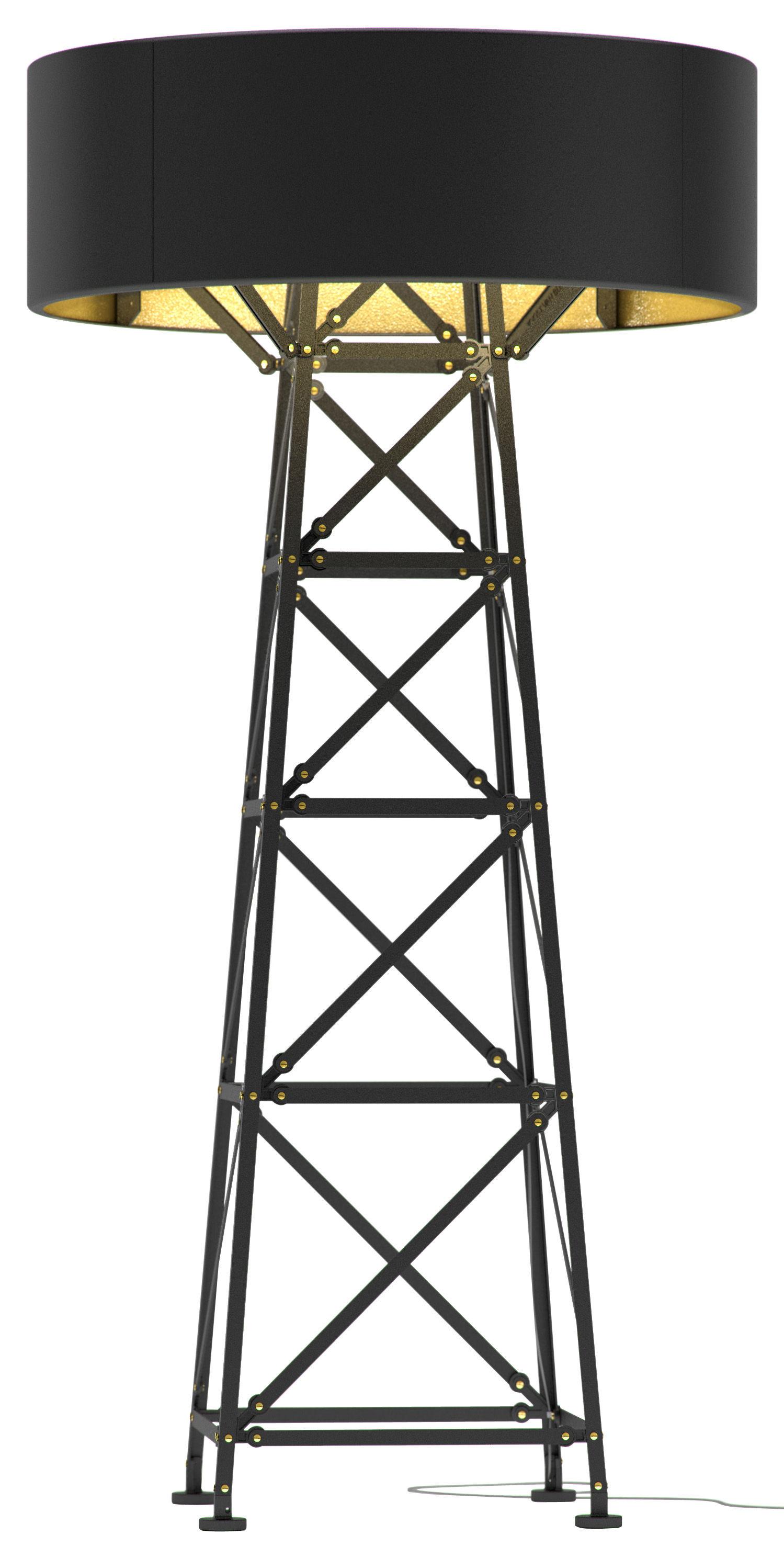 Luminaire - Lampadaires - Lampadaire Construction Lamp Large / H 185 cm - Moooi - Noir - Aluminium, Cuivre