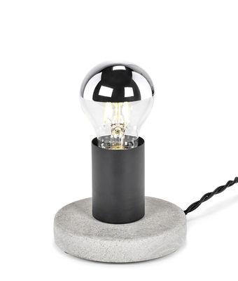 Lampe de table Essentials n°19 / Base béton - Serax gris,noir en pierre