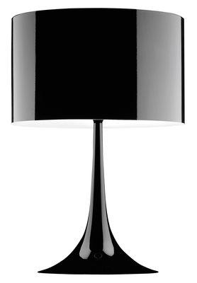 Lampe de table Spun Light T2 H 68 cm - Flos noir en métal