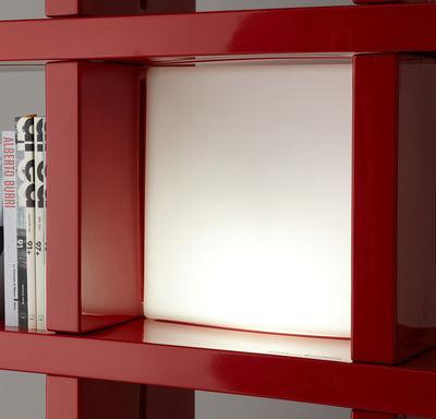 Leuchten - Tischleuchten - Quadro / Cube lumineux 40 x 40 cm Lampe / für Bücherregal - Slide - Weiß - recycelbares Polyethen