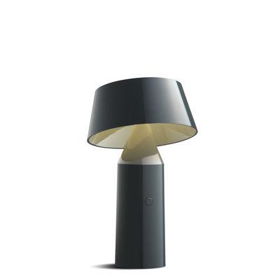 Luminaire - Lampes de table - Lampe sans fil Bicoca - Marset - Anthracite - Polycarbonate