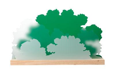 Organiseur de bureau Maquis / L 45 cm - L'atelier d'exercices vert,bois naturel,blanc translucide en matière plastique