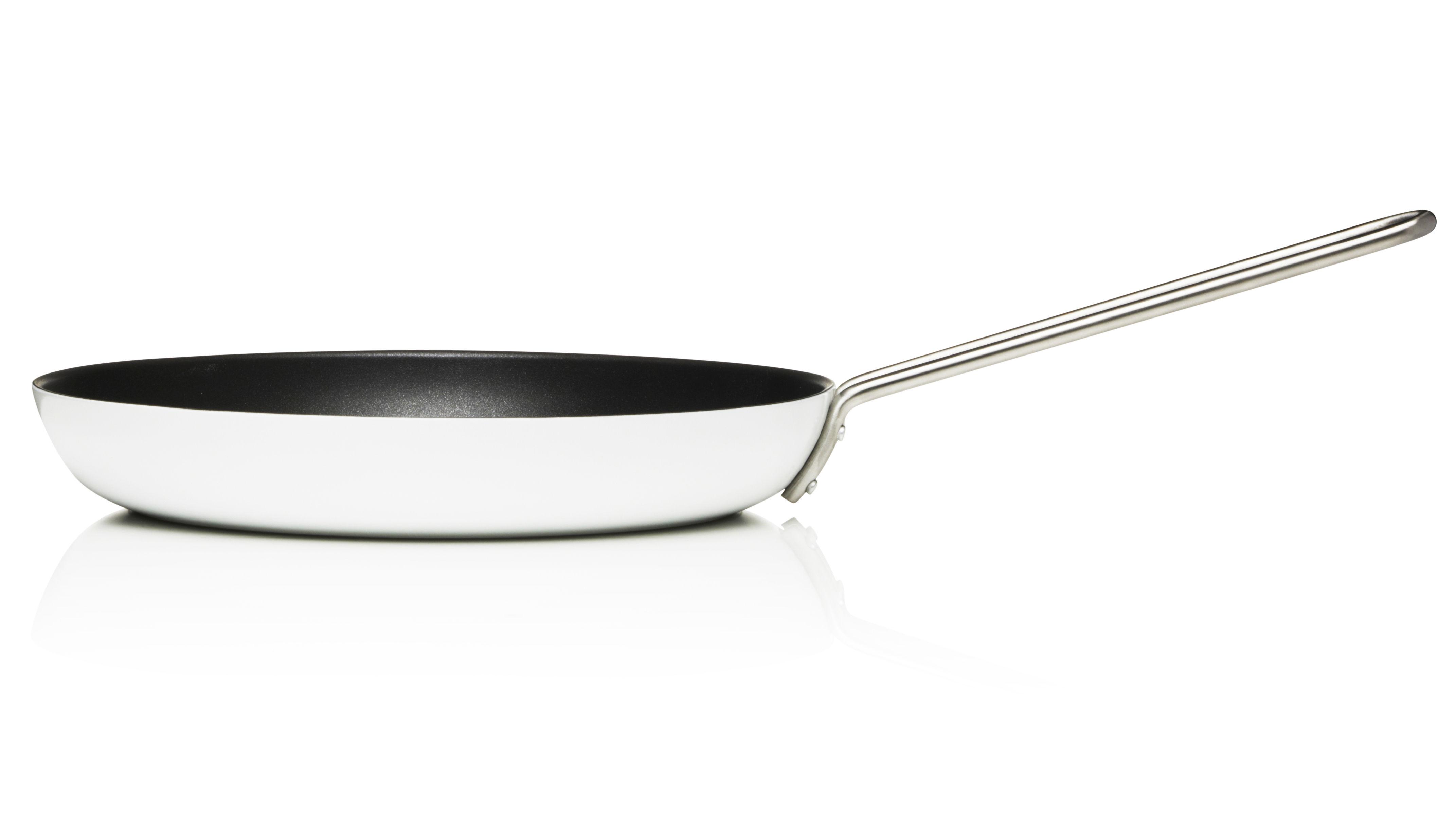 Cucina - Pentole, Padelle e Casseruole - Padella White Line - Ø 28 cm di Eva Trio - Ø 28  cm - Bianco - Acciaio inossidabile, Alluminio, Ceramica, Teflon