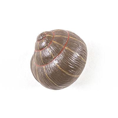 Mobilier - Portemanteaux, patères & portants - Patère Snail Sleeping / Escargot - Résine - Seletti - Violet & marron - Résine