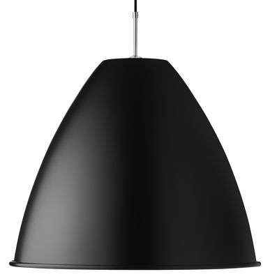 Leuchten - Pendelleuchten - Bestlite BL9 XL Pendelleuchte Ø 60 cm - Neuauflage von 1930 - Gubi - Schwarz - verchromtes Metall