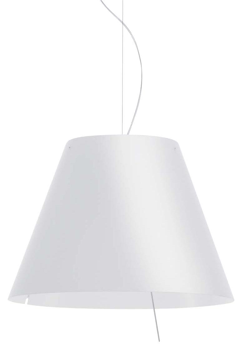 Leuchten - Pendelleuchten - Grande Costanza Pendelleuchte - Luceplan - Weiß - Polykarbonat