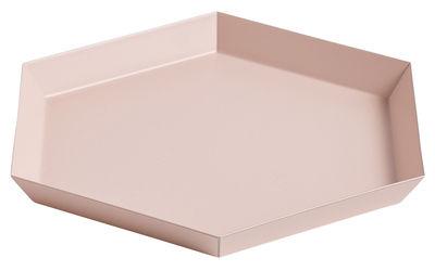 Tavola - Vassoi  - Piano/vassoio Kaleido Small - / 22 x 19 cm di Hay - Pesca - Acciaio verniciato