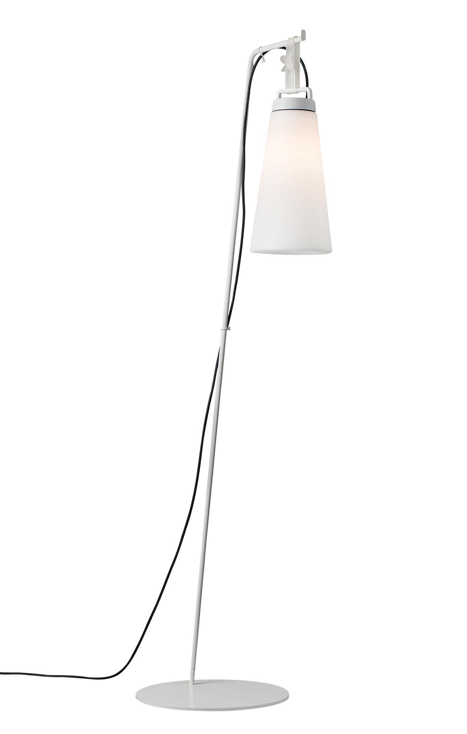 Illuminazione - Lampade da tavolo - Piede - / Per lampada Sasha - H 174 cm di Carpyen - Blanc - Acciaio laccato