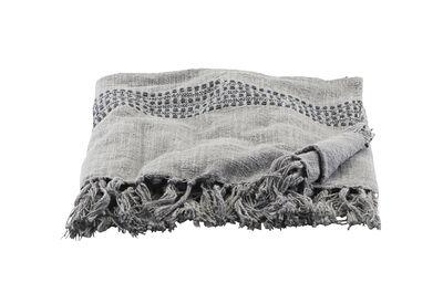 Dekoration - Wohntextilien - Kolonia Plaid / 180 x 130 cm - Baumwolle - House Doctor - Grau - Baumwolle