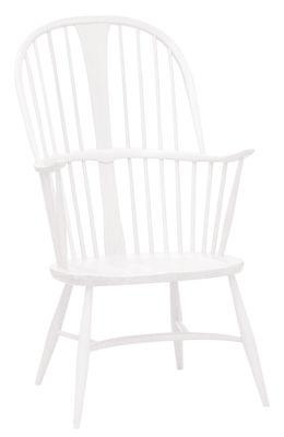 Arredamento - Poltrone design  - Poltrona Originals Chairmaker - / Legno - Riedizione 1950 di Ercol - Bianco - Faggio massiccio dipinto, Olmo massello dipinto