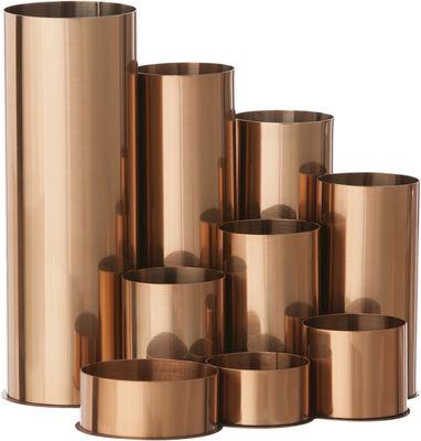 Déco - Accessoires bureau - Porte-crayons Copper - Ferm Living - Cuivre - Acier inoxydable