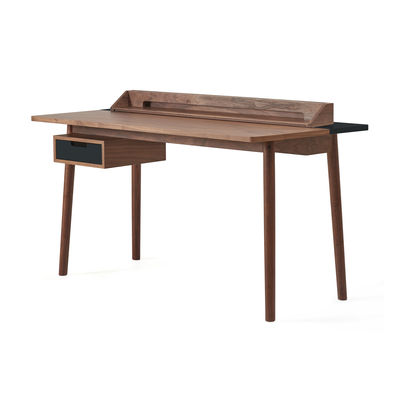Möbel - Büromöbel - Honoré Schreibtisch / Nussbaum - Hartô - Nussbaum / Schiefergrau - MDF plaqué noyer, Nussbaum massiv
