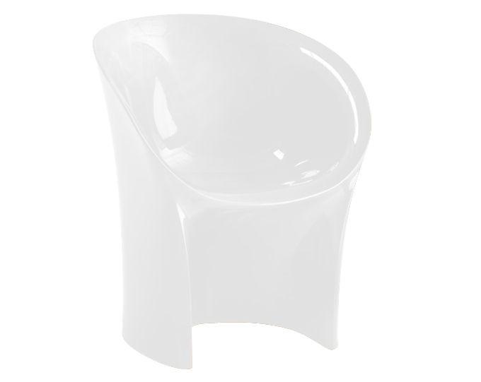 Möbel - Stühle  - Moon Sessel Metall-Finish - Moroso - Silberfarben - Polyäthylen