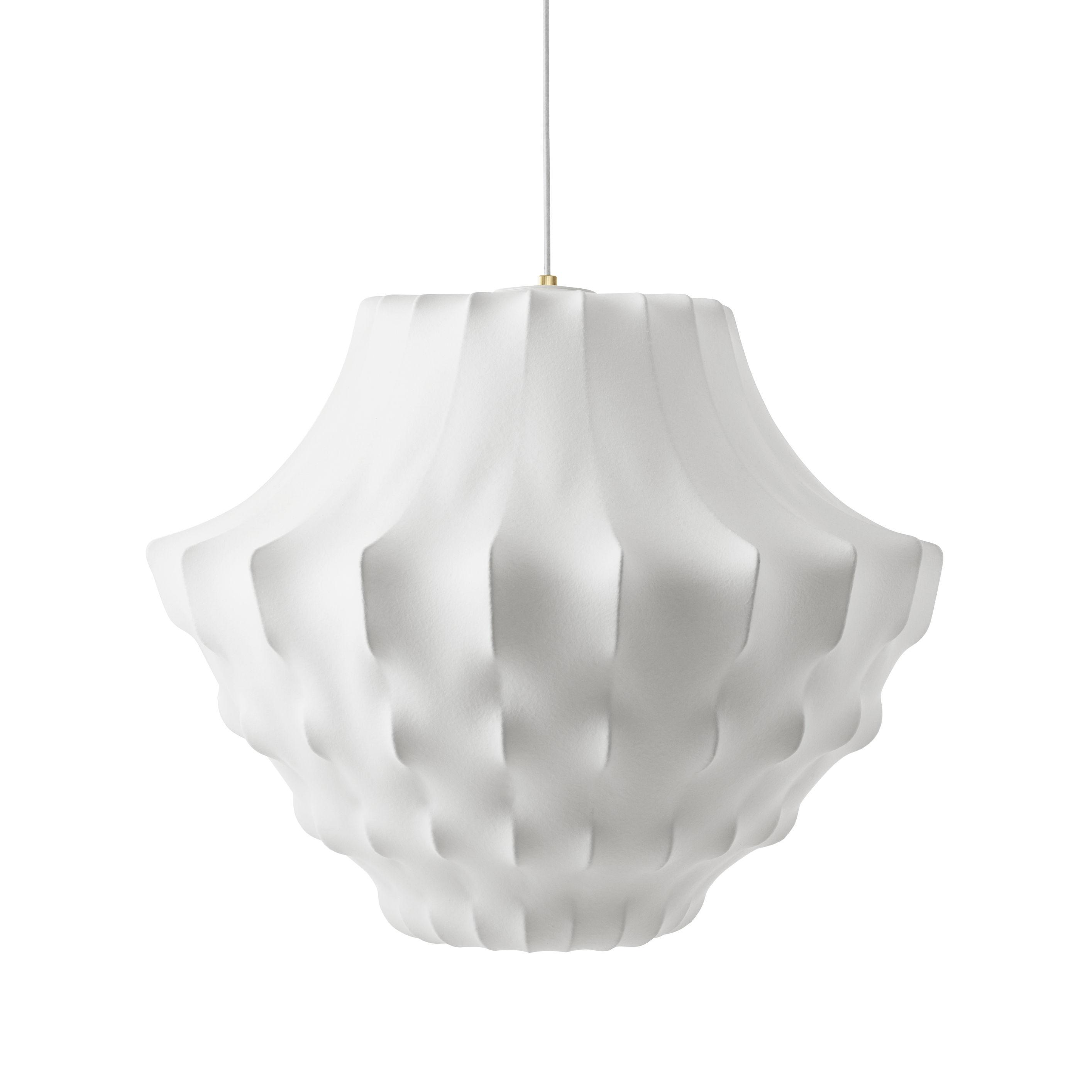 Illuminazione - Lampadari - Sospensione Phantom Large - / Ø 81 x H 64 cm - Resina cocon di Normann Copenhagen - Bianco - Acciaio, Resina cocoon