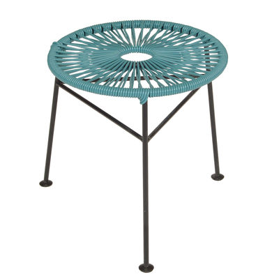 Furniture - Stools - Centro Stackable stool by OK Design pour Sentou Edition - Petrol blue - Lacquered steel, Plastic material