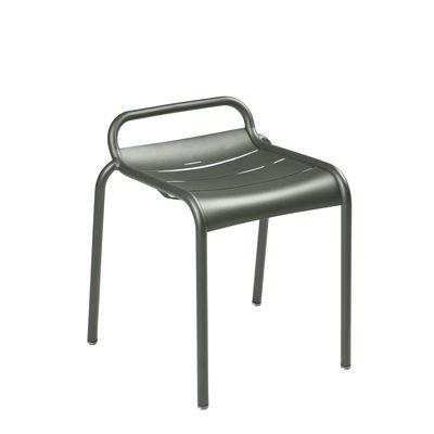Möbel - Hocker - Luxembourg Stappelbarer Hocker / Aluminium - Fermob - Rosmarin - bemaltes Aluminium