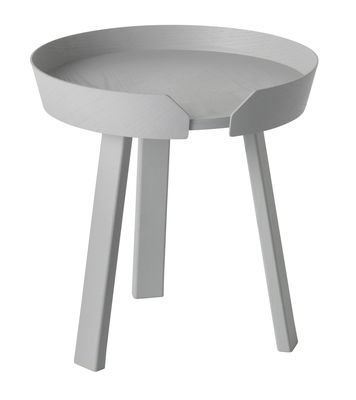 Table basse Around Small / Ø 45 x H 46 cm - Muuto gris en bois
