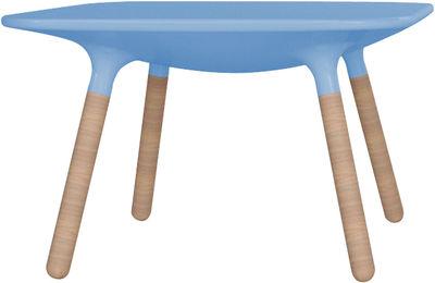 Table basse Marguerite / H 45 cm - Stamp Edition bleu en matière plastique/bois