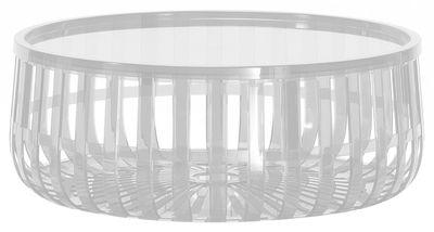 Table basse Panier / Coffre - Kartell transparent en matière plastique
