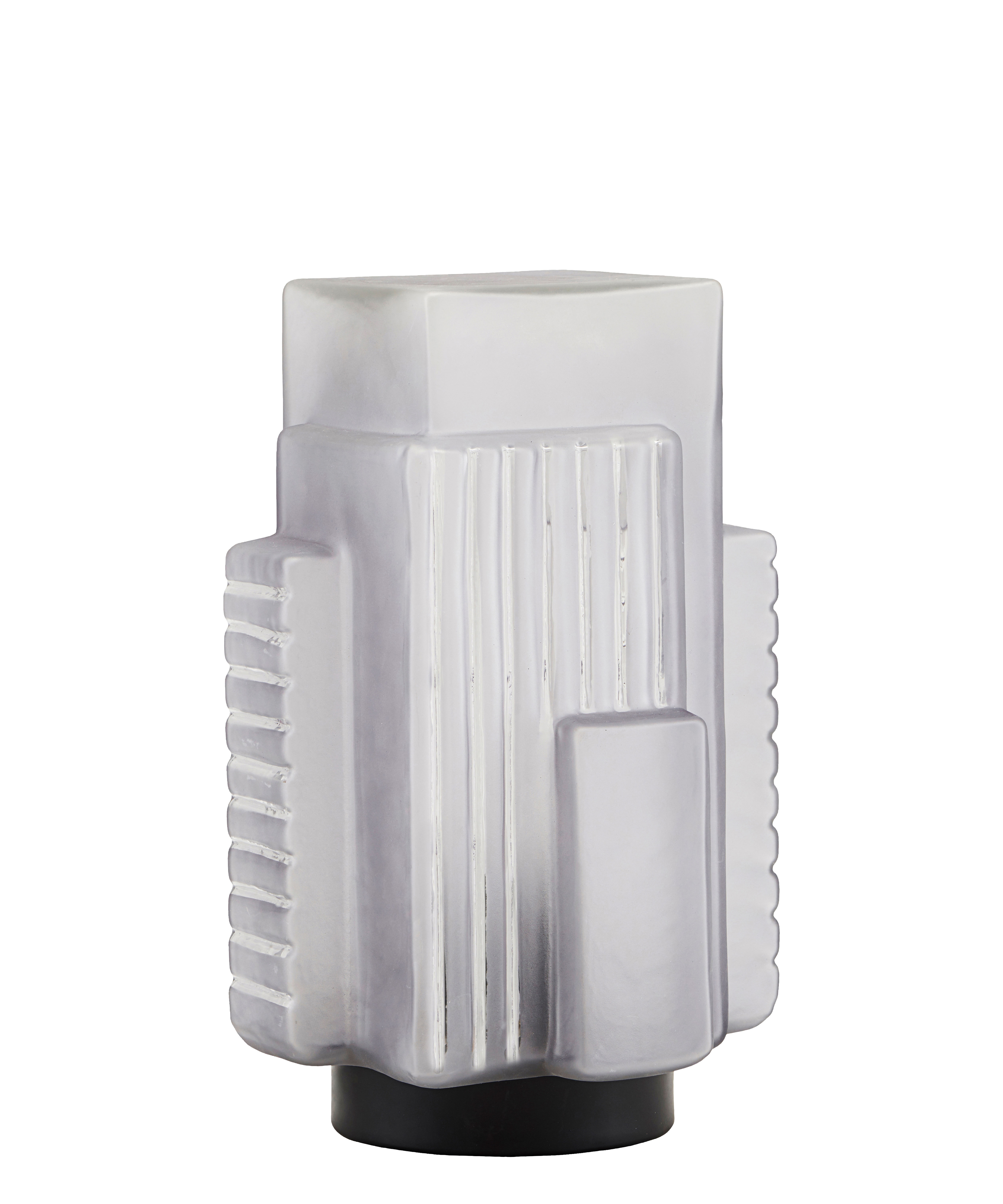Lighting - Table Lamps - Blocks Table lamp - / H 28 cm by House Doctor - Frosted glass - Glass, Metal