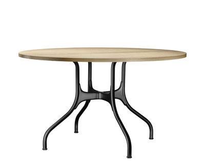 Furniture - Dining Tables - Milà Table - / Metal & wood - Ø 130 cm by Magis - Black / Oak - Steel, Veneered oak