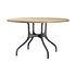 Milà Table - / Metal & wood - Ø 130 cm by Magis