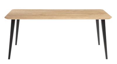 Table rectangulaire Bob / 180 x 90 cm - Bois - Ondarreta noir,bois naturel en bois