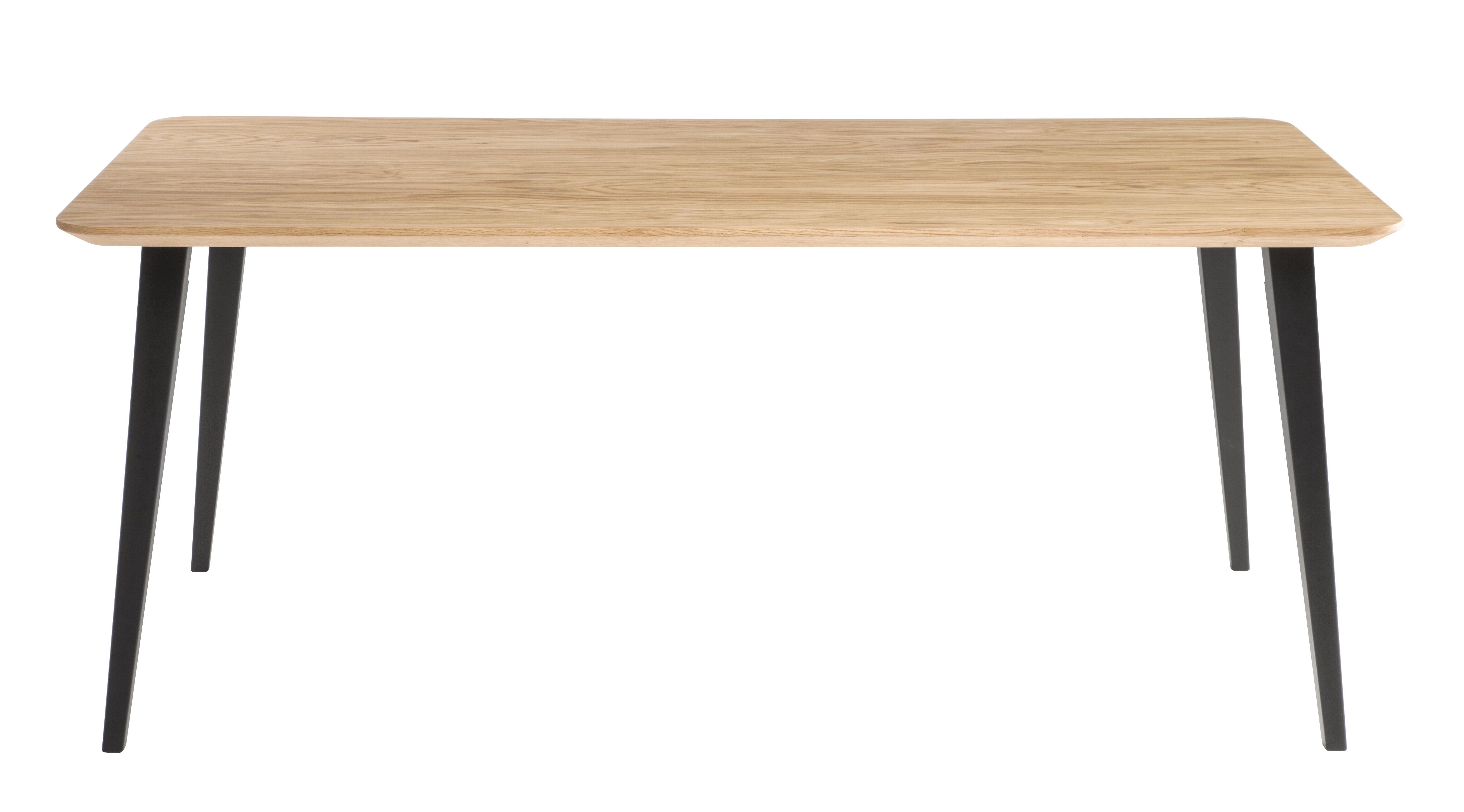 Table rectangulaire Bob / 180 x 90 cm - Bois - Ondarreta noir/bois naturel en bois