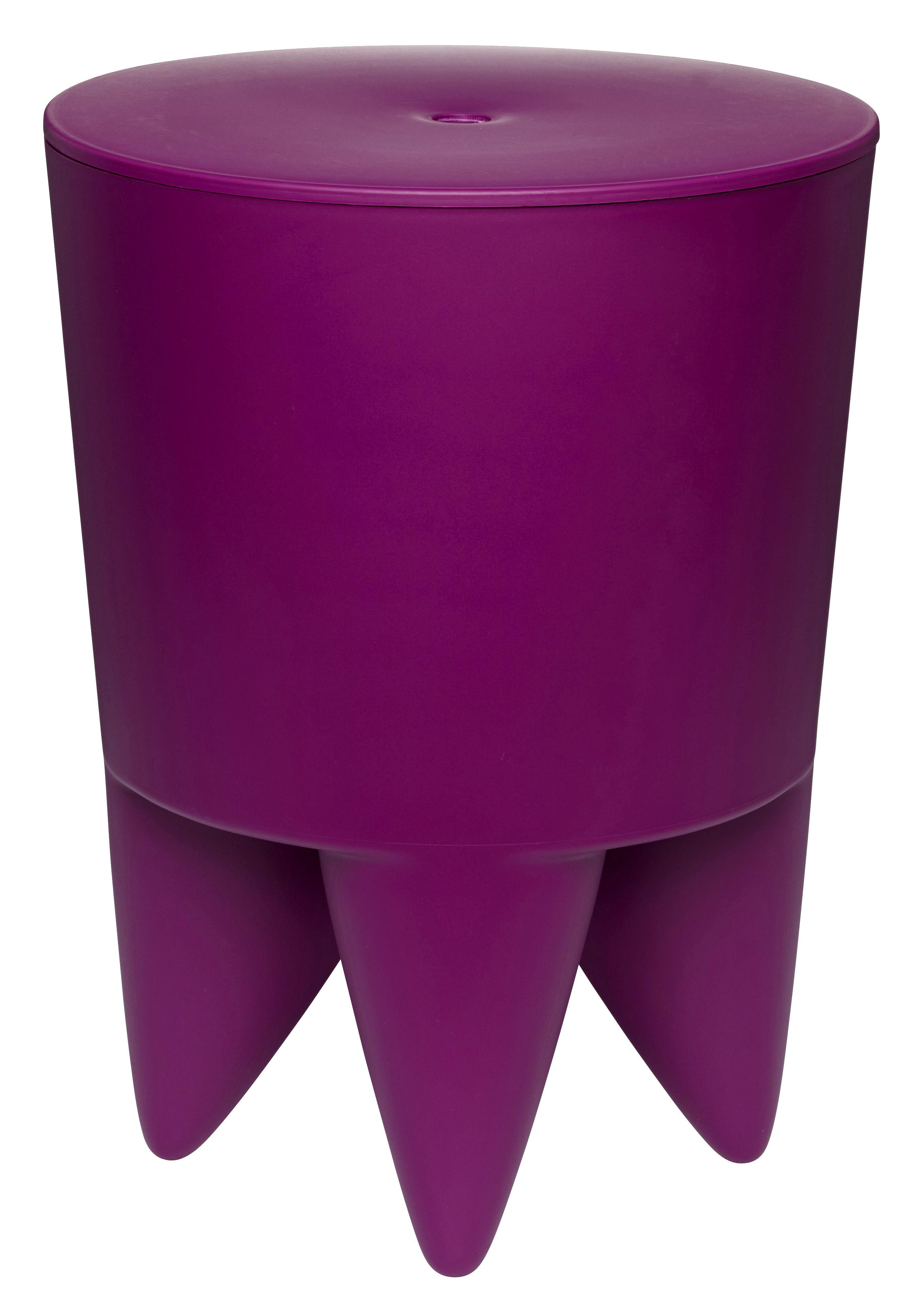 Mobilier - Tabourets bas - Tabouret New Bubu 1er / Coffre - Plastique - XO - Orchidée - Polypropylène