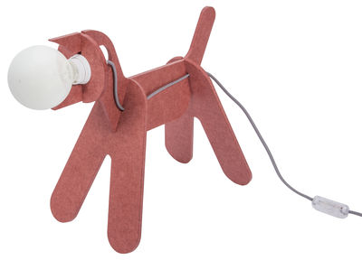 Get Out Tischleuchte / Hund - ENOstudio - Grau,Marsalarot