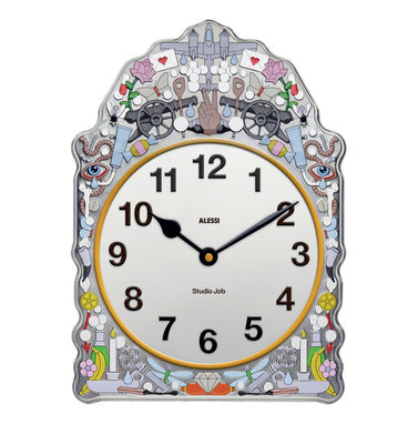 Decoration - Wall Clocks - Comtoise Wall clock - W 23 x H 30 cm by Alessi - Multicolored - Steel