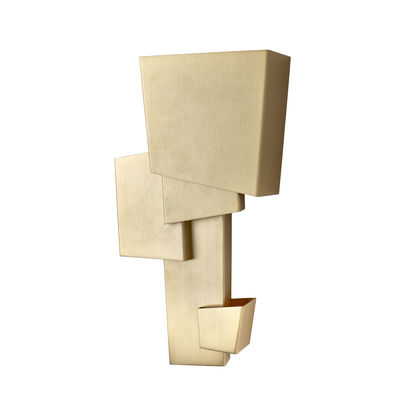 Lighting - Wall Lights - Map 1 Wall light by DCW éditions - Brass - Brushed varnished brass