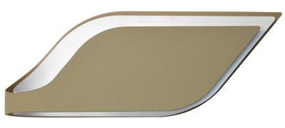 Leuchten - Wandleuchten - Foliage Wandleuchte / Deckenleuchte - L 38 cm - Lumen Center Italia - Außen grau / innen weiß - Stahl