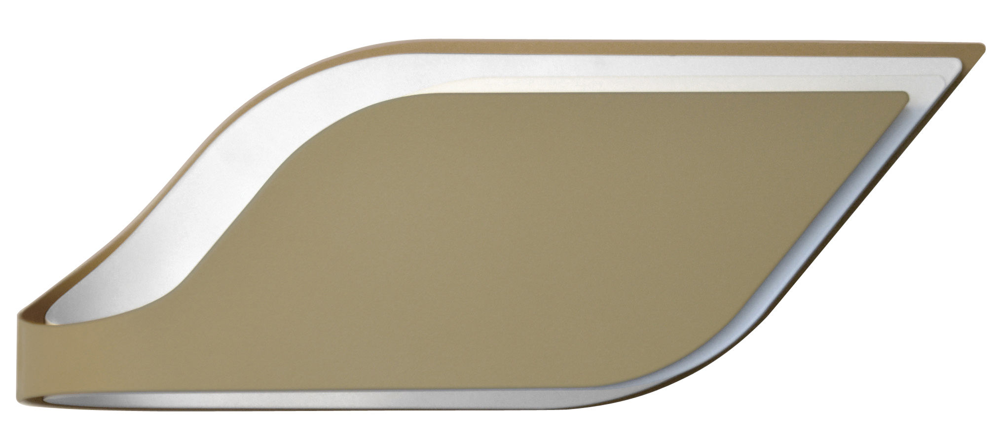 Leuchten - Wandleuchten - Foliage Wandleuchte / Deckenleuchte - L 38 cm - Lumen Center Italia - Außen grau / innen weiß - Aluminium
