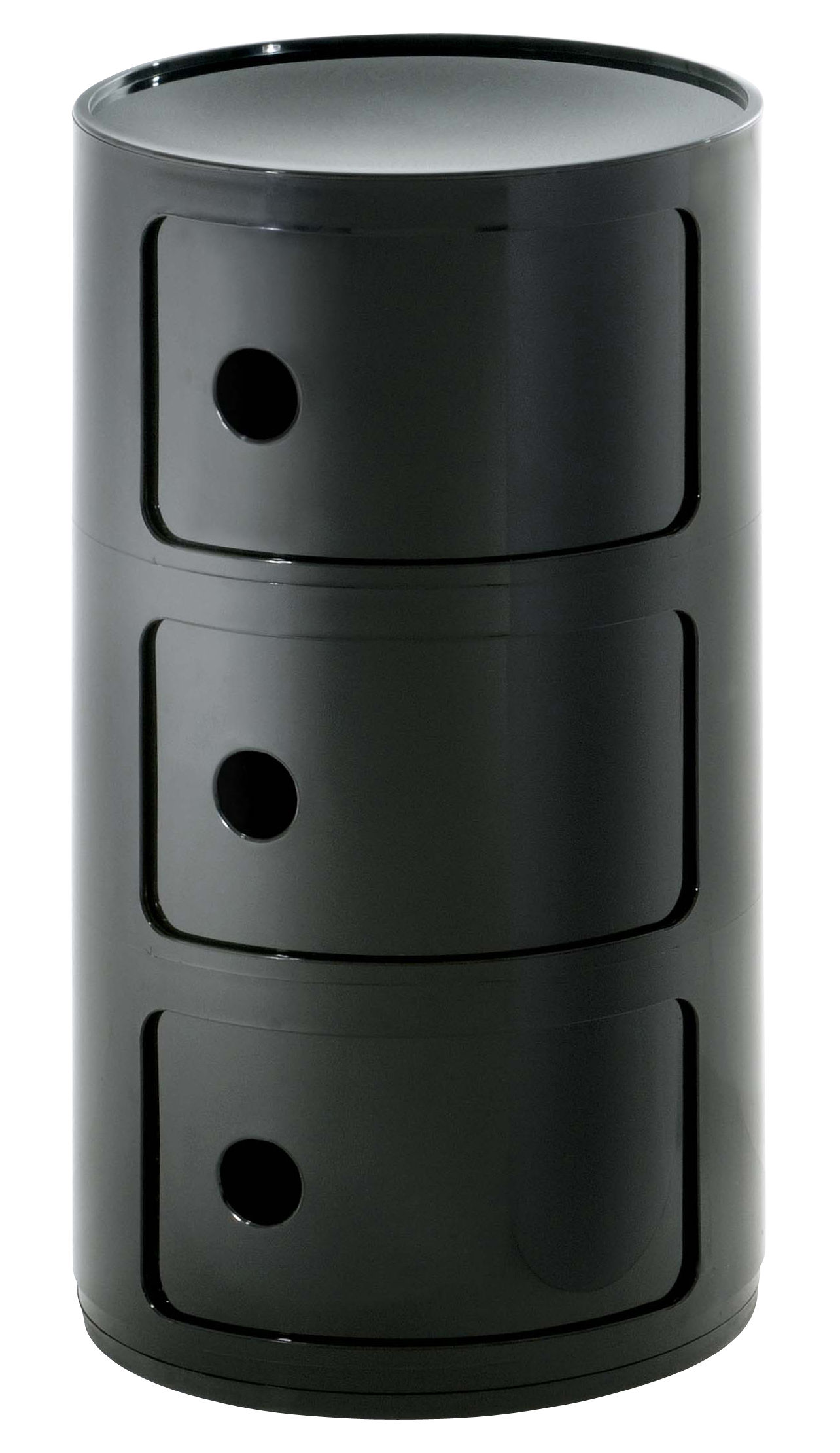 Möbel - Möbel für Teens - Componibili Ablage - Kartell - Schwarz - ABS