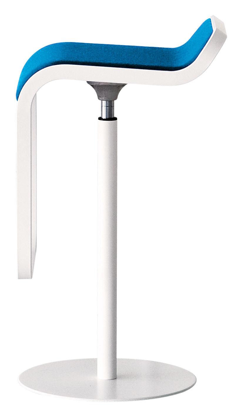 Adjustable Bar Stool Lem By Lapalma Blue Made In Design Uk