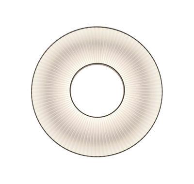 Luminaire - Appliques - Applique Iris LED / Ø 50 cm - Tissu blanc - Eclairage double flux - Dix Heures Dix - Ø 50 cm / Tissu blanc - Métal, Tissu