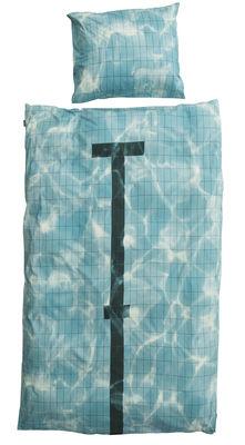 Interni - Per bambini - Biancheria da letto 1 persona Pool - / 1 persona - 140 x 200 cm di Snurk - Piscina - Percalle di cotone