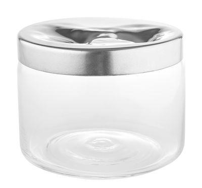 Kitchenware - Kitchen Storage Jars - Carmeta Biscuit tin by Alessi - Transparent / Steel - Glass, Stainless steel