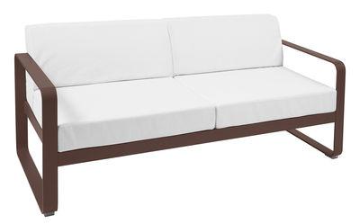 Canapé droit Bellevie 2 places L 160 cm Tissu blanc Fermob blanc,rouille en métal