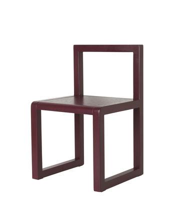 Chaise enfant Little Architect / Bois - Ferm Living rouge en bois