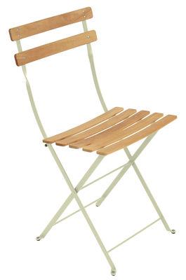 Chaise pliante Bistro / Métal & bois - Fermob bois,tilleul en bois