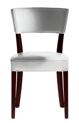 Mobilier - Chaises, fauteuils de salle à manger - Chaise rembourrée Neoz / Acajou & tissu - Driade - Ebène - Acajou, Tissu