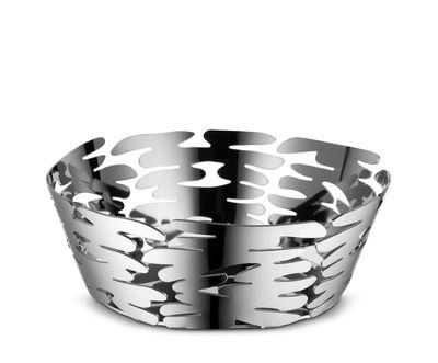 Corbeille Barket / Ø 18 cm - Acier - Alessi gris/argent/métal en métal