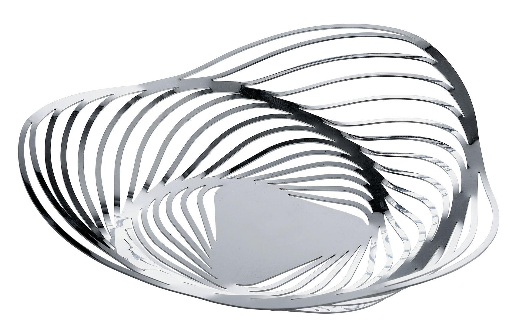 Arts de la table - Corbeilles, centres de table - Corbeille Trinity / Ø 33 x H 8 cm - Alessi - Acier poli - Acier poli