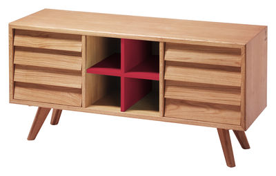 Furniture - Dressers & Storage Units - Remix Dresser - Sideboard by The Hansen Family - Oak and red - Solid oak