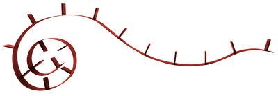 Etagère Bookworm / L 820 cm - Kartell rouge vin en matière plastique