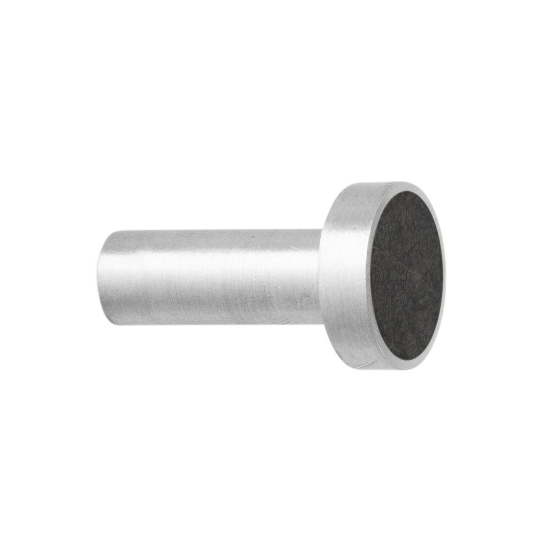 Furniture - Coat Racks & Pegs - Marbre Small Hook - / Handle - Ø 2 cm by Ferm Living - Black marble / Steel - Marble, Stainless steel