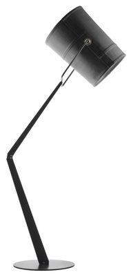 Illuminazione - Lampade da terra - Lampada a stelo Fork di Diesel with Foscarini - Grigio - Metallo anodizzato, Tessuto