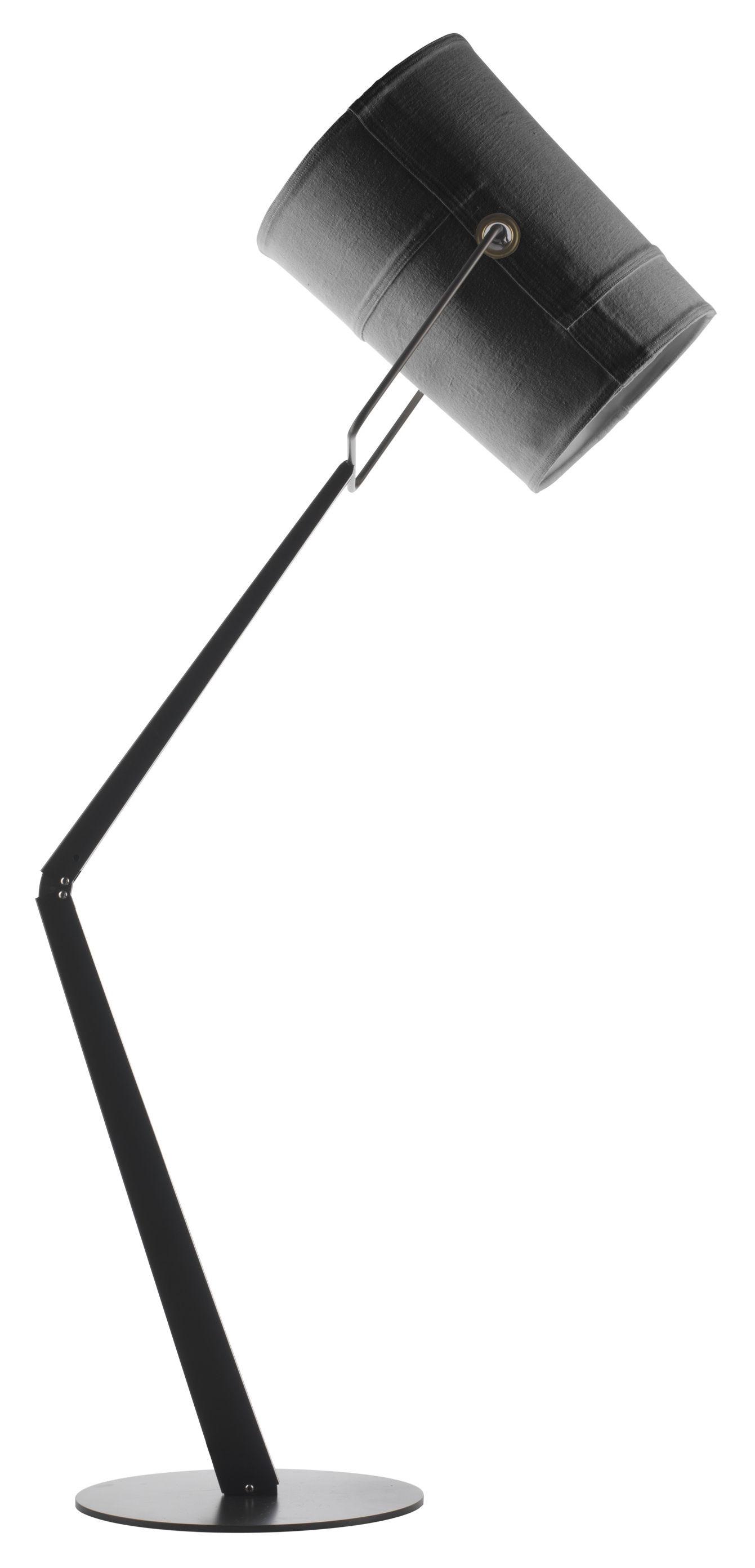 Luminaire - Lampadaires - Lampadaire Fork - Diesel with Foscarini - Gris / Pied marron - Métal anodisé, Tissu